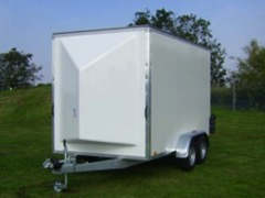 A box trailer suitable for transporting a football cage